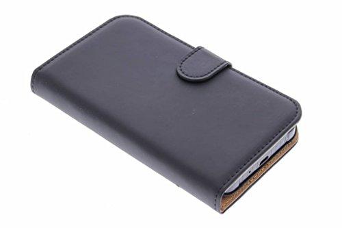 Selencia Samsung Galaxy Xcover 3 Hülle in Schwarz Matt - Premium Klapphülle mit Kartenfach und Magnetverschluss - Kunstleder Side Flip Booklet Case Handytasche