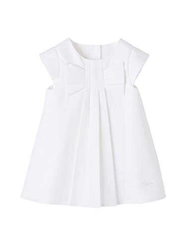 Vertbaudet Festliches Kurzarm-Kleid, Baby Mädchen weiß 74 (Kleider Babys Festliche)
