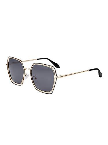 JSJIA Sonnenbrille Frauen Neue Brille Sonnenbrille Polarisator Rundes Gesicht Langes Gesicht