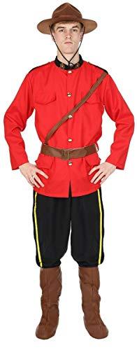 (Herren Kanadische Mountie Rote Uniform der Polizei Verkleidung Kostüm Standard)