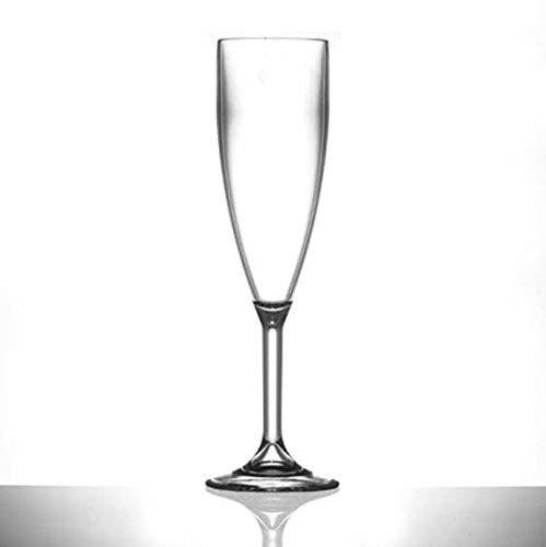 Plastique Polycarbonate flûtes à champagne – Lot de 12 (clair)