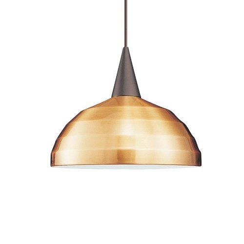 Preisvergleich Produktbild WAC Lighting PLD-F4-404CO/BK Felis 1-Light MonoPoint Pendant with Copper Shade and Black Finish by WAC Lighting
