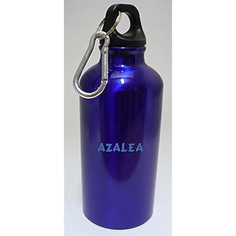 Personalizada Botella cantimplora con mosquetón con Azalea (nombre de pila/apellido/apodo)