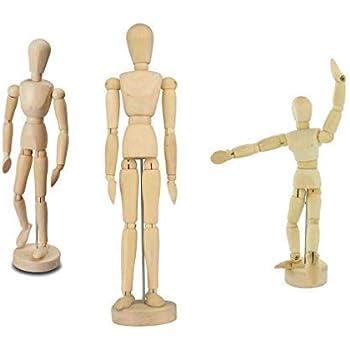 Jakar Wooden Manikin Mannequin Moveable Adjustable Limbs Human Hand Male Artist