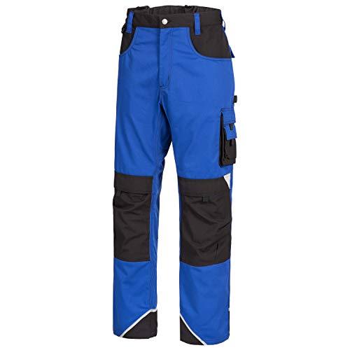 Nitras Motion Tex Plus Arbeitshose - Arbeitshosen lang für Herren & Damen - Arbeitskleidung Bundhose Schutzhose Arbeitsbundhose - Blau Größe 52