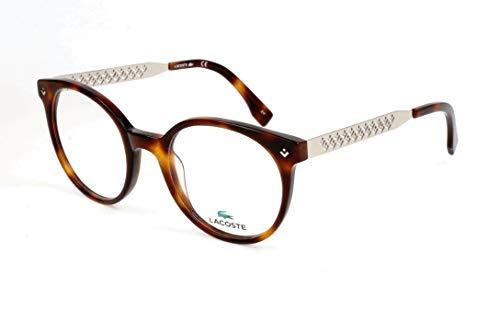 Lacoste Damen L2806 214 50 Brillengestelle, Havana,