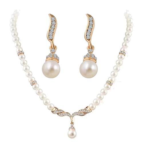 Collar de perlas con pendientes a juego (2 colores) por sólo 2,99€ usando el #código: 9TYE8LQS
