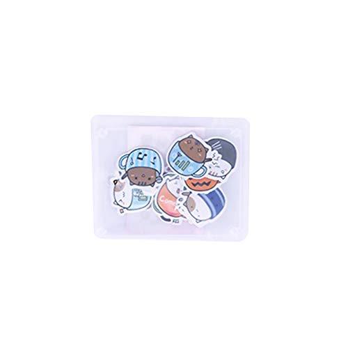 CAOLATOR Mädchen Sticker Katzen Kaffeetasse Aufkleber Kinder Deko Papier Stickerbögen 40 Blatt...
