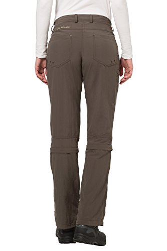 VAUDE farley zO pantalon pour femme 50 Marron - Vert kaki