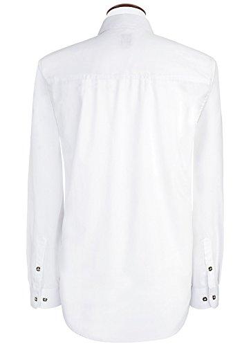 Michaelax-Fashion-Trade -  Camicia classiche  - Basic - Classico  - Maniche lunghe  - Uomo Weiß (2014 )