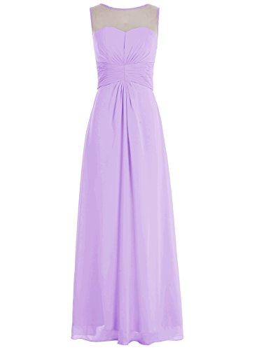 Bbonlinedress Robe de demoiselle d'honneur robe de soirée chiffon longueur ras du sol Lavande