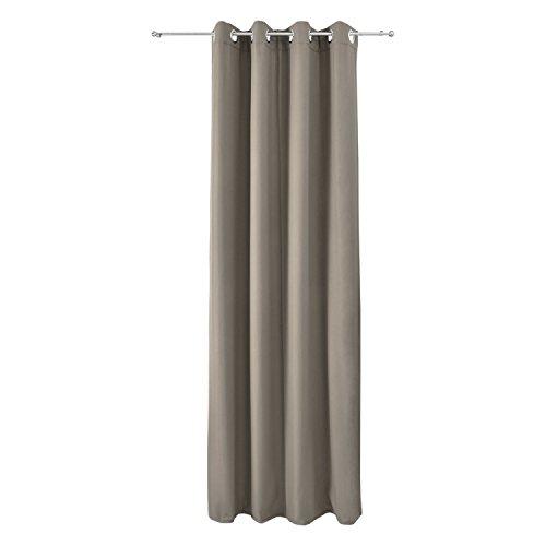 Beautissu tenda termica con occhielli serie amelie - 140x245 cm sabbia - tenda isolante e anti-sguardi indiscreti