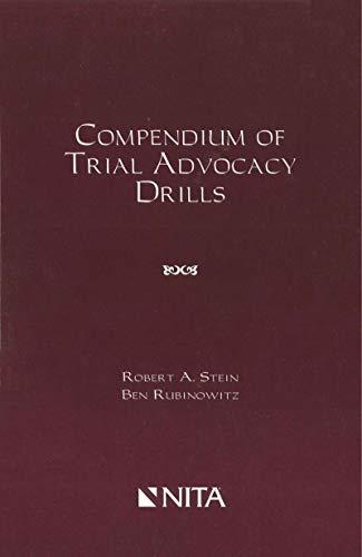 Compendium of Trial Advocacy Drills (NITA) (English Edition) - Advocacy Trial Nita