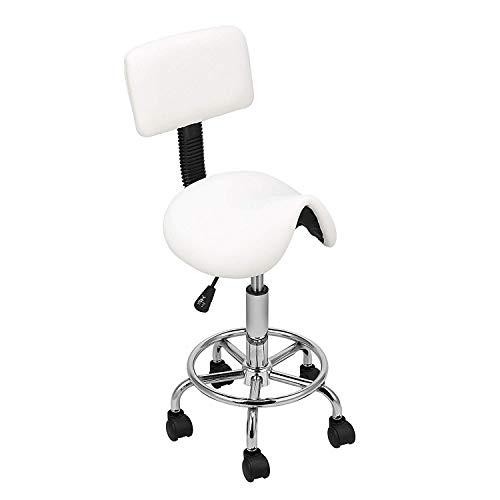 Sattel-Salon-Massagesessel mit Rückenlehne Adjustable Swivel Hydraulic Gas Lift Ergonomic Hocker für Hairdressing Manicure Tattoo Therapie Beauty -
