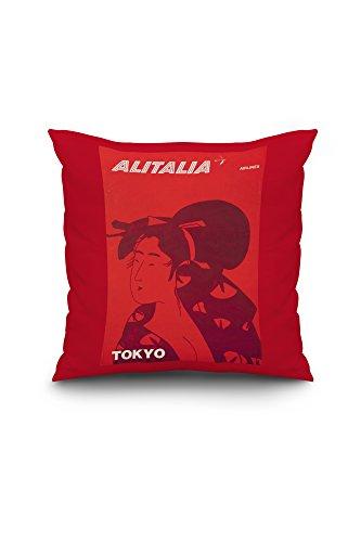 alitalia-tokyo-vintage-poster-italy-c-1960-18x18-spun-polyester-pillow-case-custom-border