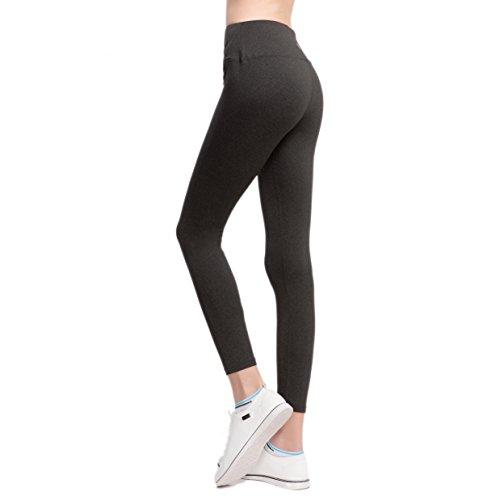 VFUN Legging de Sport Pantalon de Yoga Femme Basique avec Coupe Ajustée Gris