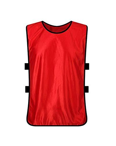 Shaoyao Weste/Markierungshemden/Trainingsleibchen/Trainings-Leibchen/Basketball/Football Für Teamsportbedarf - Fußballtraining Rot Child