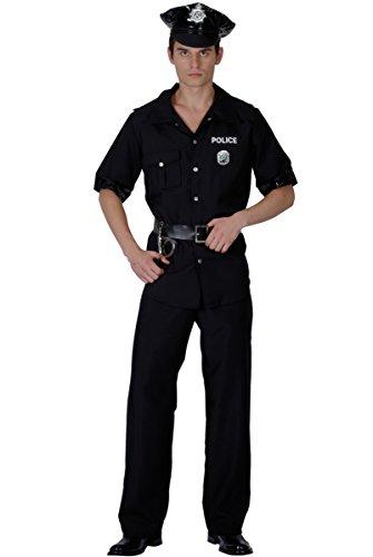 KULTFAKTOR GmbH Heisser Polizist Kostüm Cop schwarz L