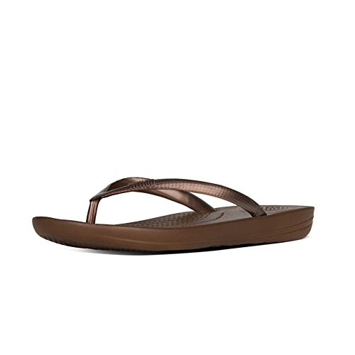Fitflop Iqushion Ergonomic Flip-flops, Damen Zehentrenner, Braun (Bronze 012), 42 EU (8 UK) - Bronze 42