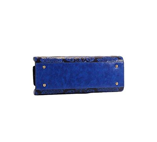 Hochwertige Geprägte Klöße Tasche Handtasche Schulter Diagonalen Paket Von Frauen-Paket Blue