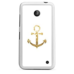 Nokia Lumia 635 Housse en silicone blanc - Anchor Gold Look