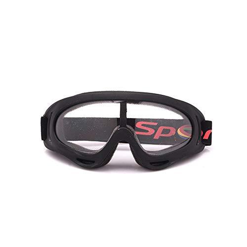 Easy Go Shopping Outdoor-Reitsportbrille, Antibeschlag, UV400-Schutz, Belüftete Ski- und Snowboardbrille, Komfortabel, Sonnenbrillen und Flacher Spiegel (Farbe : Transparent Lenses)
