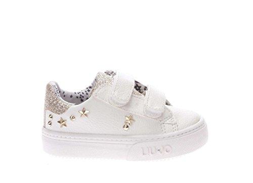 L1A4 00169 0039X048.Sneaker in Pelle con Borchiette.Bianco.22