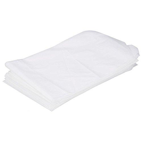 Delaman Bettlaken Einweg Wasserdicht Untersuchungstischlaken/Bettbezug aus Vlies 10 Stücke für Krankenhause Praxis Schönheitssalon (Color : White)