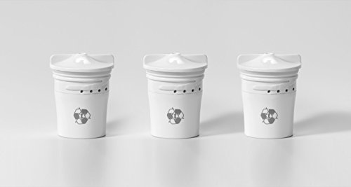 TAPP 2-3 biologisch abbaubare Ersatzkartuschen (Aktivkohle-Technologie, beseitigt Mikroplastik, Chlor, Blei, Pestizide)