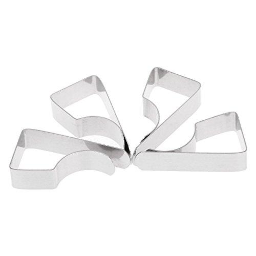 Manyo Tischklammern, Edelstahl, 4 Stück - Edelstahl Tischplatte