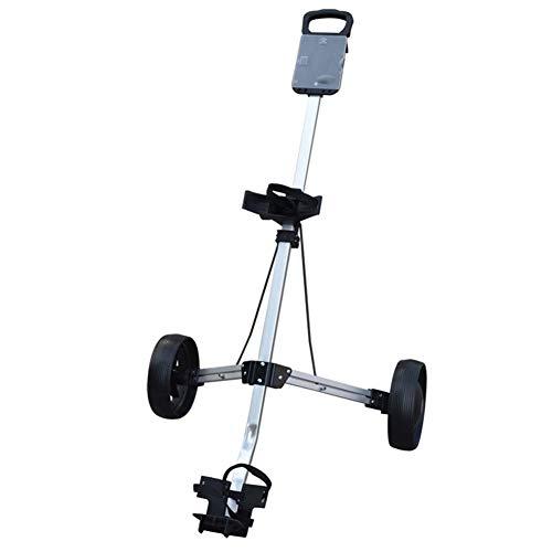 AIMN Golf-Pushwagen mit 2 Rädern, Golf Hand Push Cart, zusammenklappbar