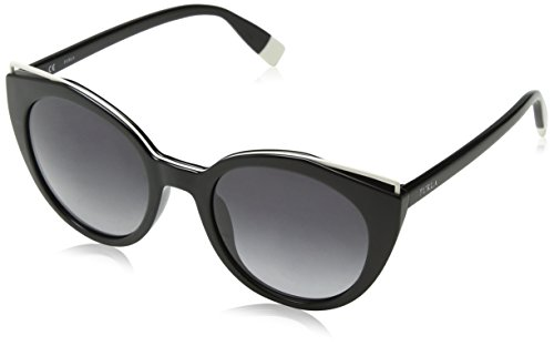 Furla eyewear, occhiali da sole donna, nero (shiny black), 51