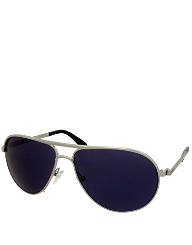 Himmel fallen Secret Agent Style Sonnenbrille, Rahmen silber / Blau Spiegellinse