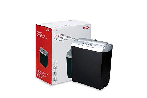 ednet S7 Aktenvernichter mit CD/DVD/Kreditkartenfach, Schnittgröße: 7mm, Auffangbehälter: 13 L, Streifenschnitt