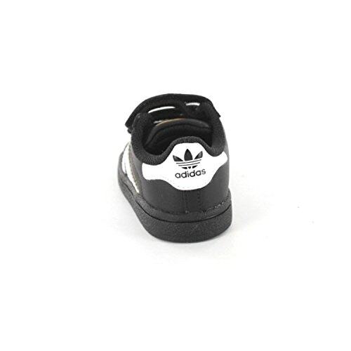 adidas Unisex-Baby Superstar Foundation CF I Lauflernschuhe Negro / Blanco (Negbas / Ftwbla / Negbas)