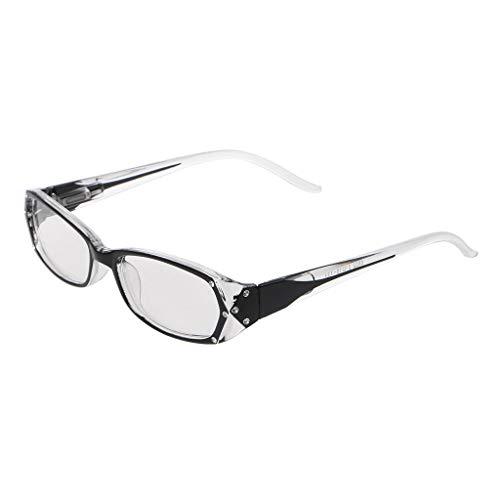 Eliky Frauen Lesebrille Eingelegten Strass Brille Dioptrien