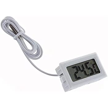 RICISUNG Thermomètre numérique avec écran LCD pour les congélateurs Réfrigérateurs