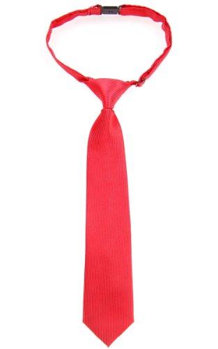 Retreez - Corbata de microfibra con nudo, varios colores rojo rosso 4 - 7 Años