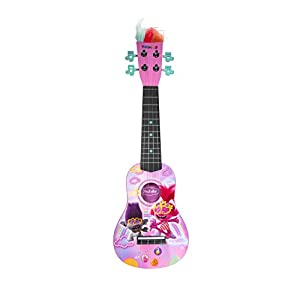 First Act Discovery Trolls World Tour-Ukelele Infantil (plástico, 4 Cuerdas de Nailon, para niños a Partir de 8 años), Color Rosa (Jazwares TRO0025)