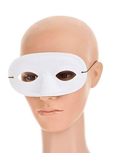 Domino-Maske, Weiß