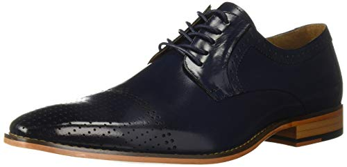 Stacy Adams Men's Sanborn Perf Cap-Toe Lace-up Oxford, Cobalt, 8.5 M US