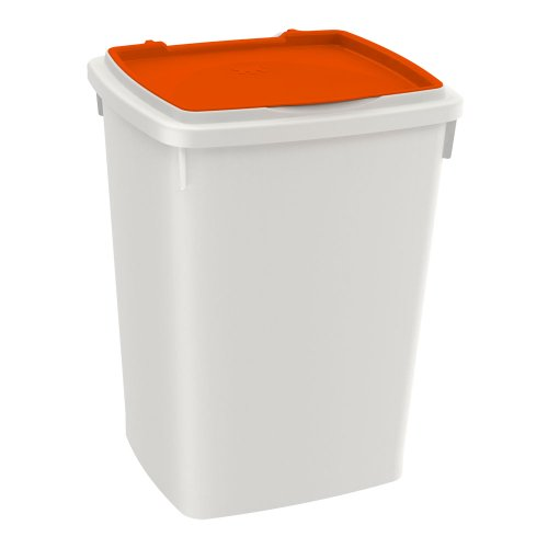 Ferplast 71960011W1 Feedy 39 Hundefutter Behälter, 37.5 x 34 x H 50 cm, 39 L, orange
