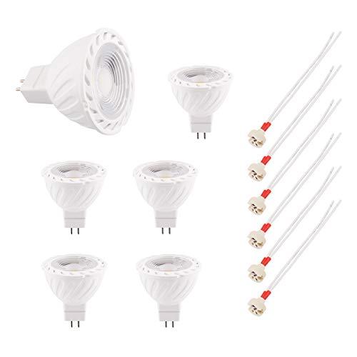B4U 6 X MR16 Glühbirne Leuchtmittel Led Lampen Gu5.3 Warmweiss 7W mit mr16-Anschluss, Ersatz Für Halogen Birne 50W, 630 Lumen, Warmweiß 2700K, Lebensdauer von 30000 Stunden[Energieklasse A+]