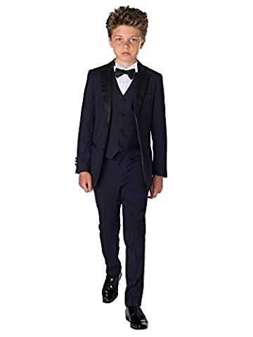 Paisley of London, Marine De Garçons Smoking, garçons Costume De Bal, marine de garçons costume, Slim Fit costume, 12-18 mois - 13 ans - Bleu marine, 2 years