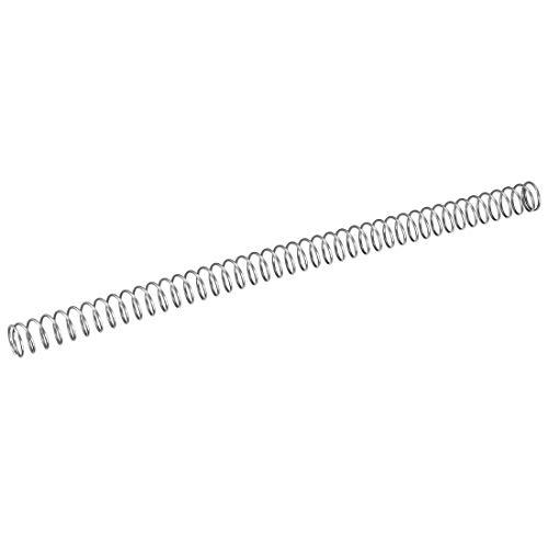sourcing map Edelstahl-Spiralfeder mit Druckfeder hohe Hitzebeständigkeit 1,5x17x300mm (Spiralfeder Edelstahl)