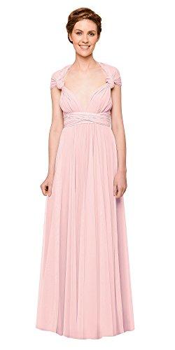 Infinity Kleid, Ballkleid, Brautjungfernkleid, Gr. 34-42 rosa/rosé, pfirsich, hellrosa, Wickelkleid...