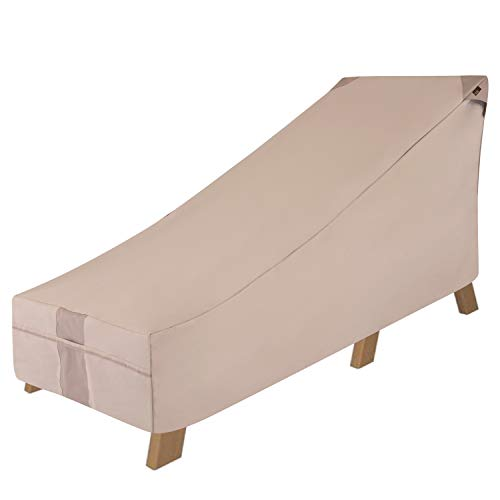 Modern Leisure 2908 Monterey Day Chaise Cover (78 L x 35.5 D x 33 H inches) Waterproof, Large, Khaki/Fossil -