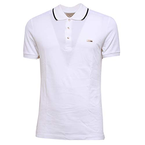Burberry Herren T-shirts (BURBERRY 6029Y Polo Uomo White Maglia Polo t-Shirt Man [S])