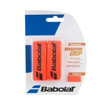 Babolat Badminton Basis Griffband Sensation 2er Packung in verschiedenen tollen Farben (rot)