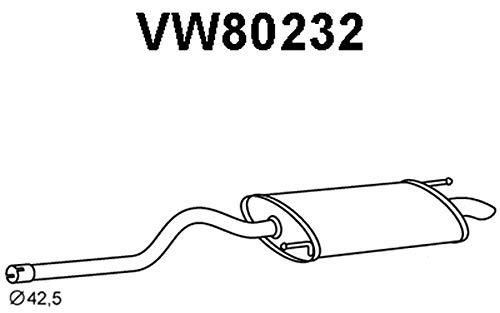 veineuse Porte rn55263/Silencieux central